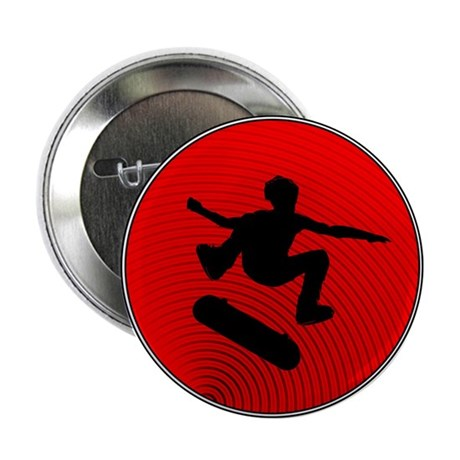 """Red Skater 2.25"""" Button"""