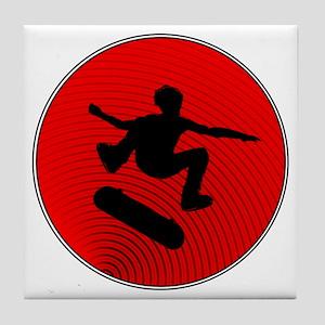 Red Skater Tile Coaster