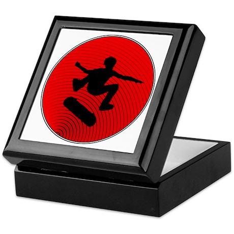 Red Skater Keepsake Box