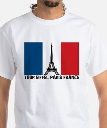 Tour Eiffel Paris France White T-Shirt