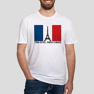 Tour Eiffel Paris France Fitted T-Shirt