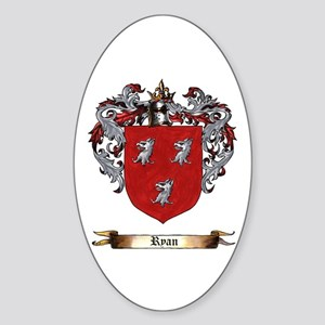 Ryan Coat of arms Sticker (Oval)