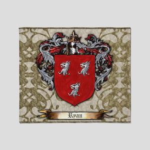 Ryan Coat of arms Throw Blanket