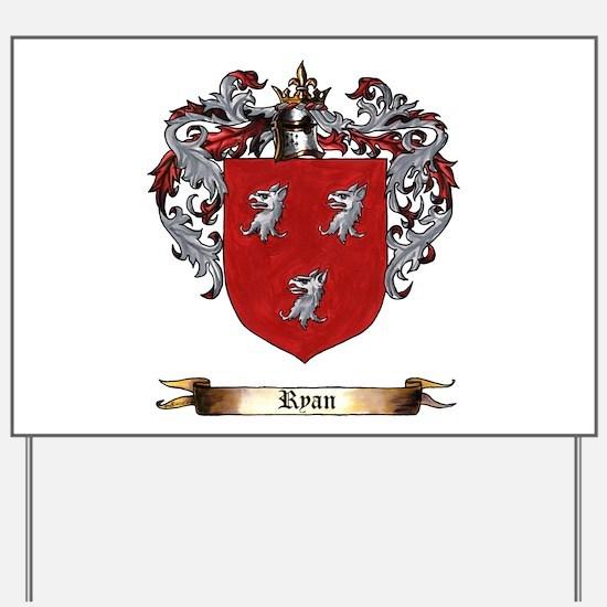 Ryan Coat of arms Yard Sign