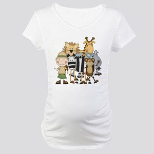 Boy on Safari Maternity T-Shirt