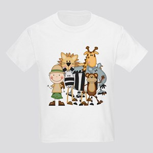 Boy on Safari Kids Light T-Shirt