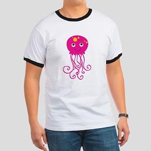 Pink Jellyfish Ringer T