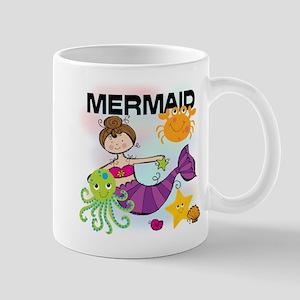 Brunette Mermaid Mug