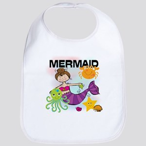 Brunette Mermaid Bib