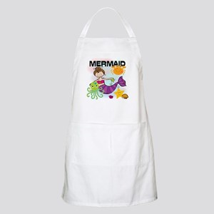 Brunette Mermaid Apron