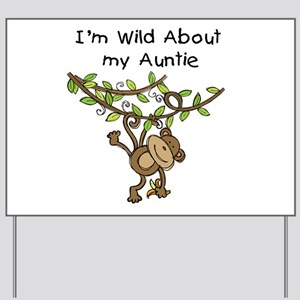 Wild About Auntie Long Sleeve Yard Sign