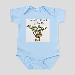 Wild About Auntie Long Sleeve Infant Bodysuit
