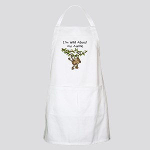 Wild About Auntie Long Sleeve Apron