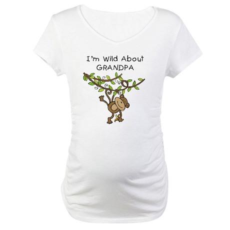 Wild About Grandpa Maternity T-Shirt