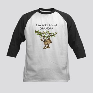 Wild About Grandpa Kids Baseball Jersey