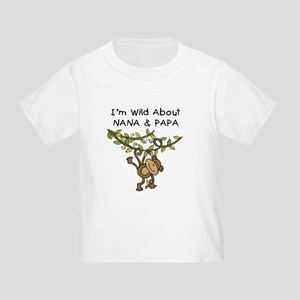 Wild About Nana & Papa Toddler T-Shirt