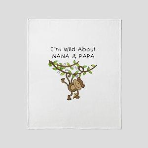 Wild About Nana & Papa Throw Blanket