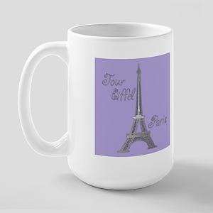 Tour Eiffel Large Mug (purple/green)