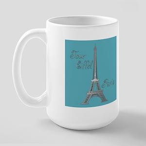 Tour Eiffel Large Mug (blue/orange)