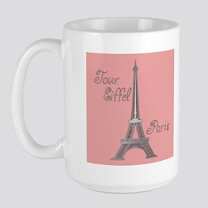 Tour Eiffel Large Mug (pink/purple)