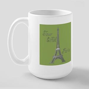 Tour Eiffel Large Mug (green/blue)