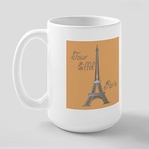 Tour Eiffel Large Mug (orange/pink)