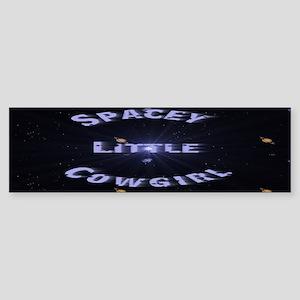 Spacey Little Cowgirl Bumper Sticker