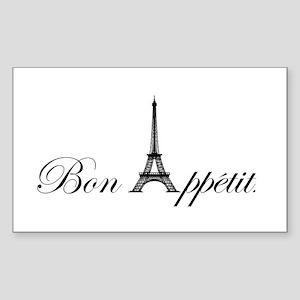 Bon Appetit Sticker (Rectangle)