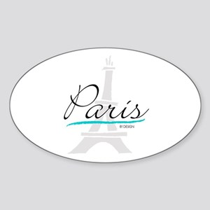 Paris by Design Sticker (Oval)