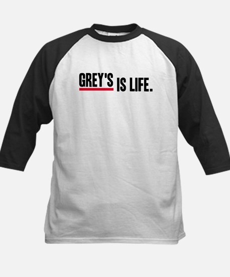 Grey's Is Life Kids Baseball Jersey