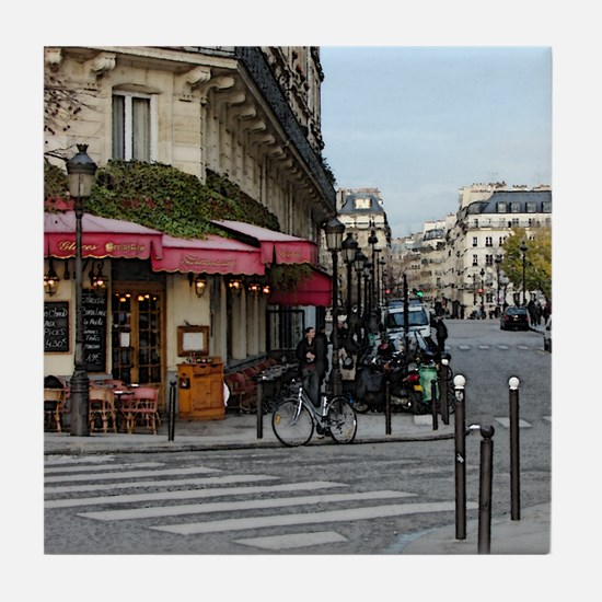 Paris Cafe Tile Coaster