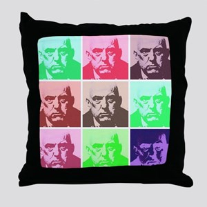 Aleister Crowley in Color Throw Pillow