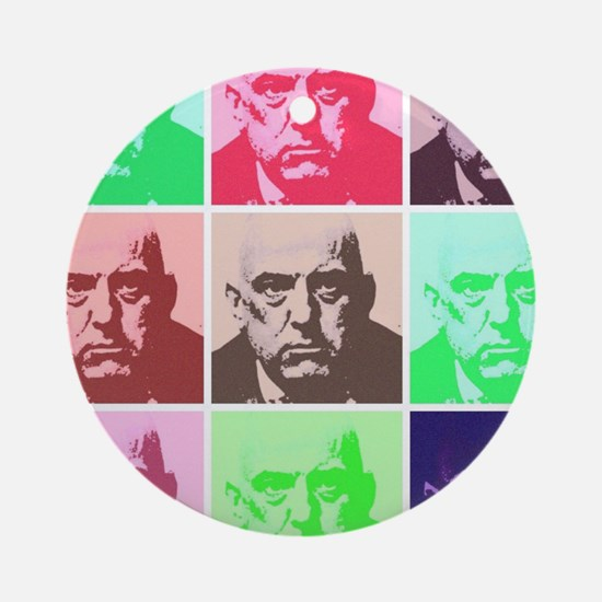 Aleister Crowley in Color Ornament (Round)