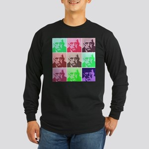Aleister Crowley in Color Long Sleeve Dark T-Shirt