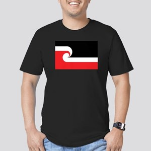 Maori Flag Men's Fitted T-Shirt (dark)