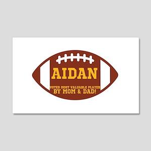 Aidan Football 22x14 Wall Peel