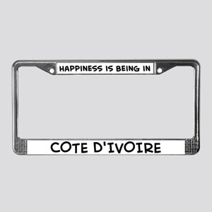 Happiness is Cote D'ivoire License Plate Frame