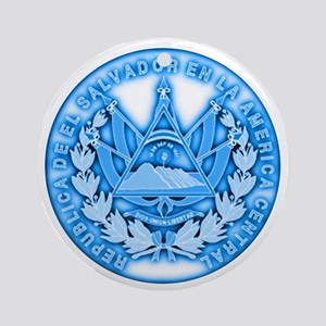 El Salvador Seal Ornament (Round)