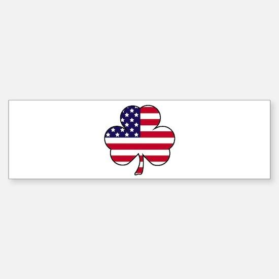 'American Shamrock' Sticker (Bumper)