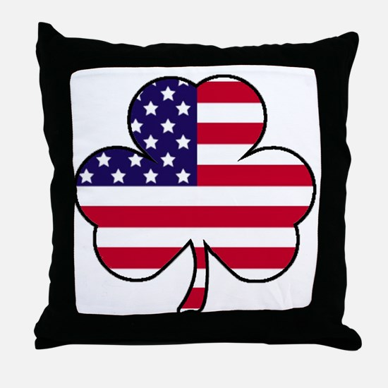 'American Shamrock' Throw Pillow