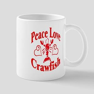 Peace Love Crawfish Mug