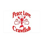 Peace Love Crawfish 38.5 x 24.5 Wall Peel