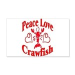 Peace Love Crawfish 22x14 Wall Peel