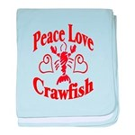 Peace Love Crawfish baby blanket