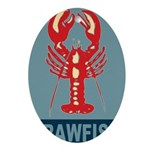 Crawfish In Red and Blue Ornament (Oval)