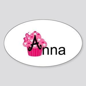 Anna Baby Cakes Sticker (Oval)