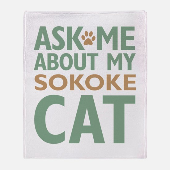 Sokoke Cat Throw Blanket