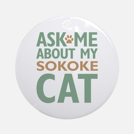 Sokoke Cat Ornament (Round)