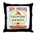 Crawfish Eating Champ Throw Pillow