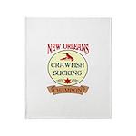 Crawfish Eating Champ Throw Blanket